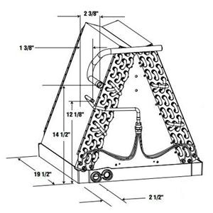 Nordyne Air Handler Tube and Fin Evaporator Coil